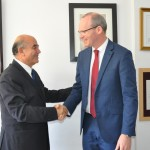 Sourani Receives Irish Foreign Affairs Minister