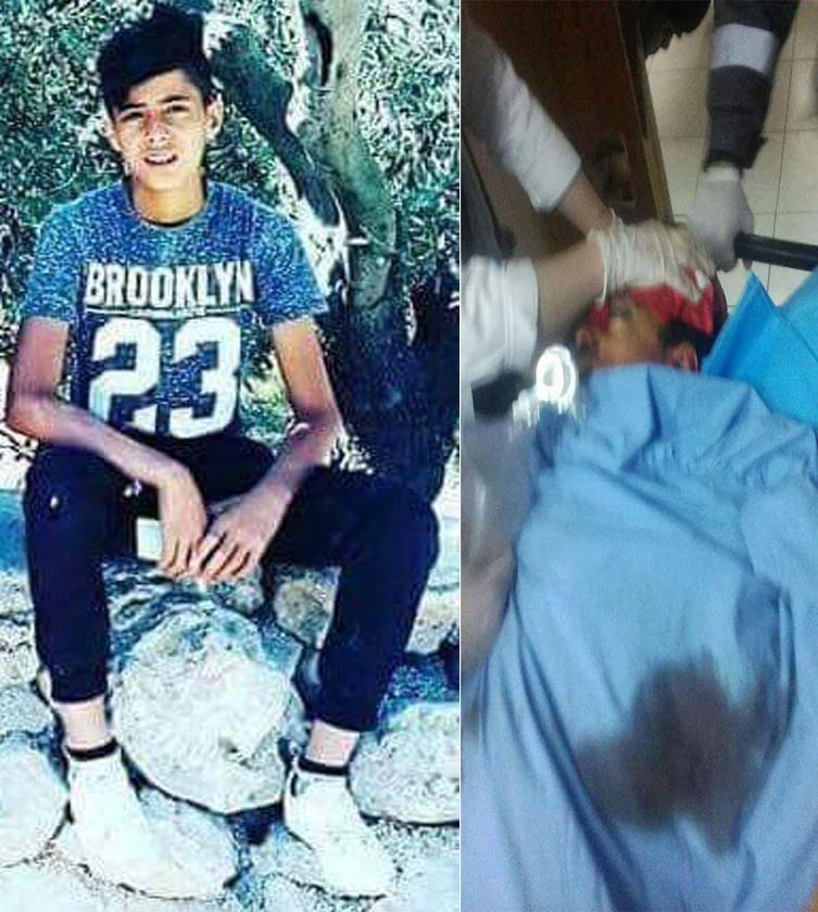 Israeli forces Kill Palestinian Child Laith Haitham Fathi Abu Na'im (17) in al-Mughayer Village, northeast of Ramallah