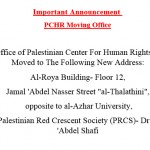 Important Announcement: PCHR Moving Office