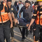 Palestinian Civilian Killed and 338 others Wounded, including 43 Children, 7 Women, 6 Journalists and 1 Paramedic
