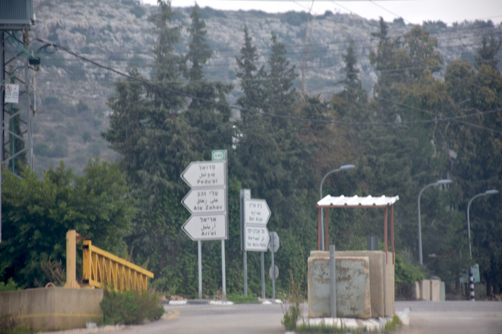 Der Ballout Israeli checkpoint and gate