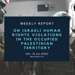 Weekly Report on Israeli Human Rights Violations in the Occupied Palestinian Territory (04 – 10 Jun 2020)