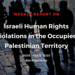 Weekly Report on Israeli Human Rights Violations in the Occupied Palestinian Territory (28 May – 03 Jun 2020)