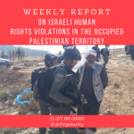 Weekly Report on Israeli Human Rights Violations in the Occupied Palestinian Territory (11 – 17 Jun 2020)