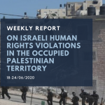 Weekly Report on Israeli Human Rights Violations in the Occupied Palestinian Territory (18 – 24 Jun 2020)