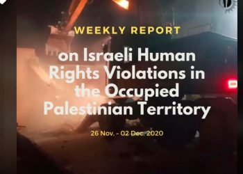 weekly report on israeli human rights violations in the occupied palestinian territory (26 November – 02 December 2020)