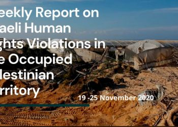 Weekly Report on Israeli Human Rights Violations in the Occupied Palestinian Territory (19- 25 November 2020)
