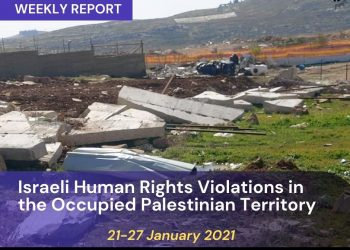 Weekly Report on Israeli Human Rights Violations in the Occupied Palestinian Territory 21- 27 January 2021