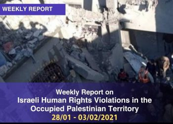 Weekly Report on Israeli Human Rights Violations in the Occupied Palestinian Territory 28 January – 03 February 2021
