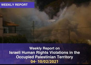 Weekly Report on Israeli Human Rights Violations in the Occupied Palestinian Territory 04-10 January 2021