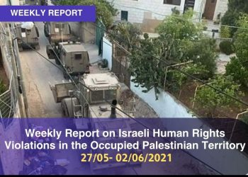 Weekly Report on Israeli Human Rights Violations in the Occupied Palestinian Territory (27 may – 02 June 2021)
