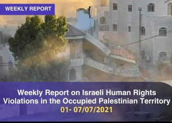 Weekly Report on Israeli Human Rights Violations in the Occupied Palestinian Territory (1 – 7  June 2021)